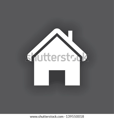 house icon. vector. eps10