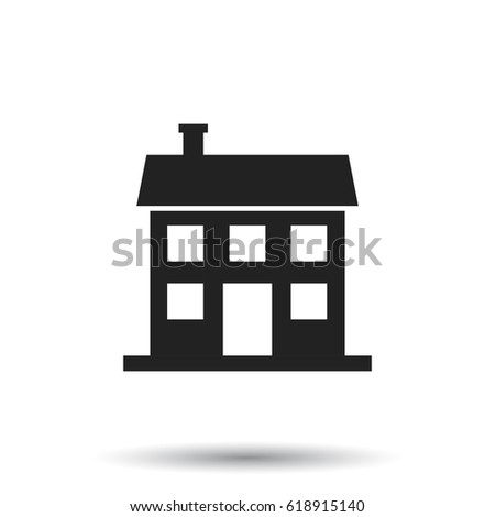 House icon. Vector illustration in flat style on white background.