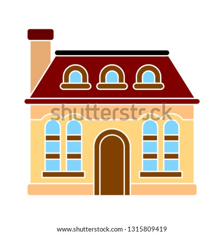 house icon - vector real estate building symbol. house element