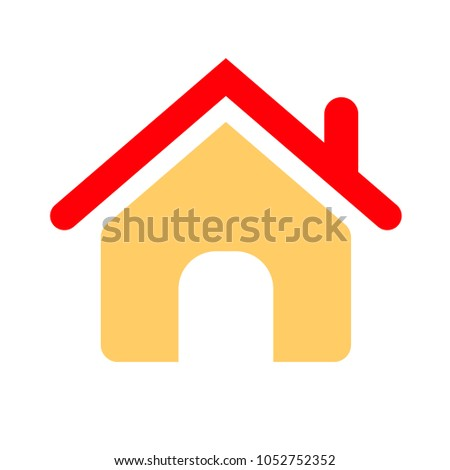 house icon - vector real estate symbol