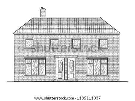 house illustration  drawing