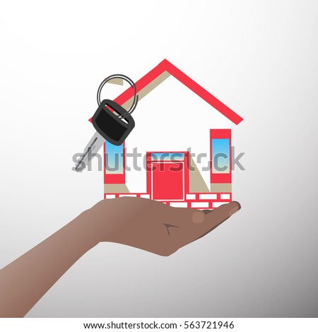 house in a hand icon