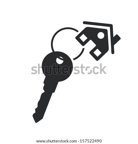 Key Template House Key Black Web Icon