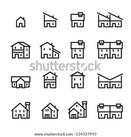 house line icon.set 2