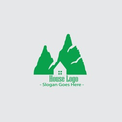 House logo Nature modern logo template vektor