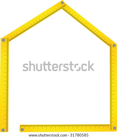 House made of meter background