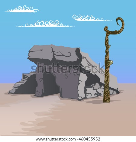 house made of stones  vector