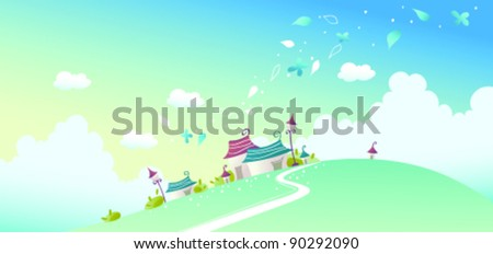 House on landscape