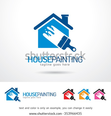 house painting logo template