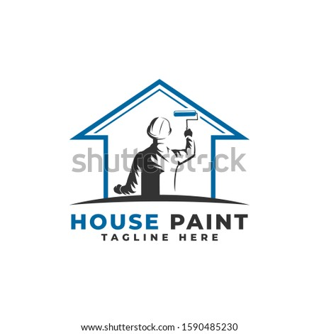 house painting logo vector icon