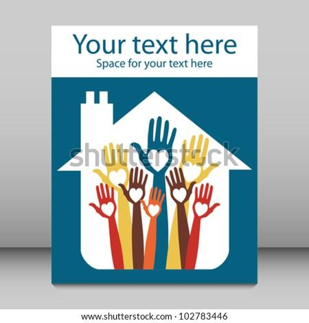 House party leaflet or flier design.