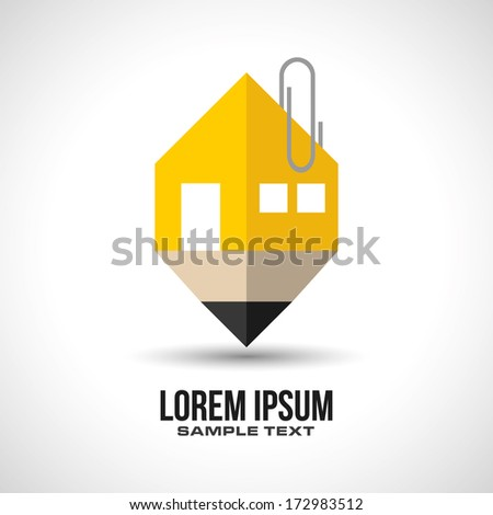 house pencil design concept in vector format