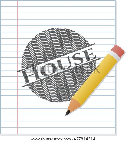 House pencil draw