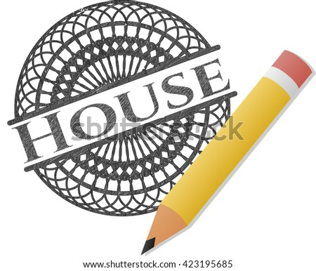 House pencil strokes emblem