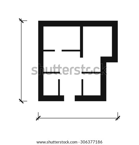 House plan vector icon