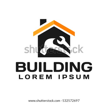 house real estate construction building logo house vector house repair logo - Home Building Tools