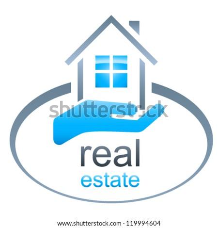 house / real estate sign - vector illustration