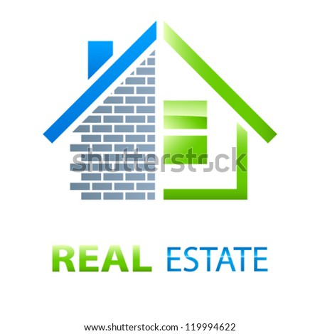 house / real estate sign - vector illustration