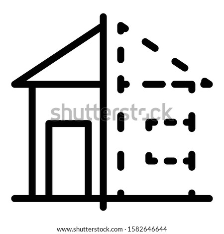 House reconstruction icon. Outline house reconstruction vector icon for web design isolated on white background