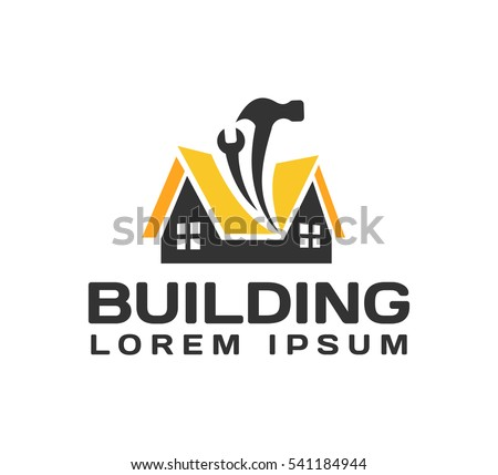 House repair logo. House, Real Estate, Construction, Building Logo. House Vector. Tools icon. Repairs house sign. Home improvement icon.