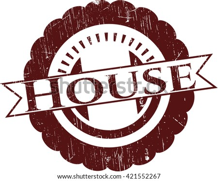 House rubber stamp with grunge texture
