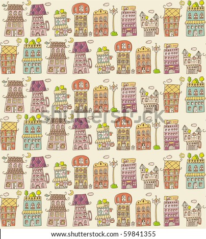 house seamless pattern,vector illustration