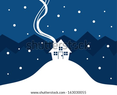 house silhouette with show