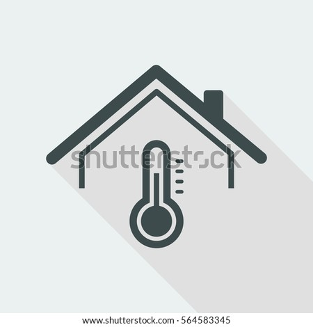 House temperature - Vector web icon