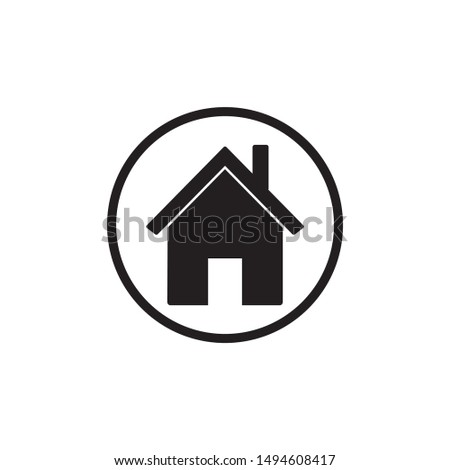 House vector icon illustration sign