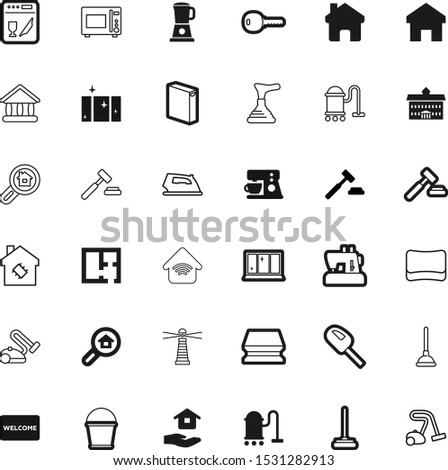 house vector icon set such as