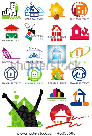 house vector icons for web