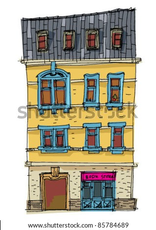 house with book store