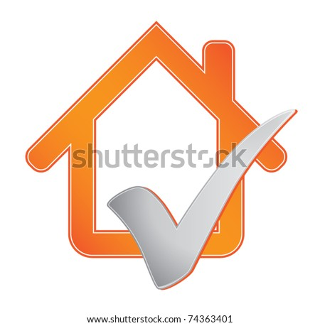 House with check mark