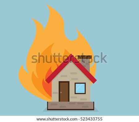 house with fire  home ilsurance