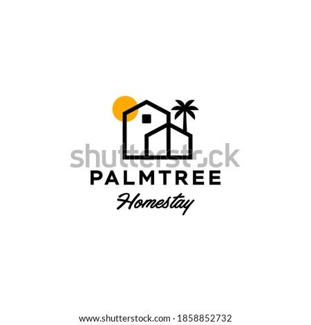 house with palm tree logo