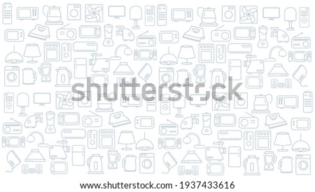 household appliances icon background. home appliances vector icon background. household appliances