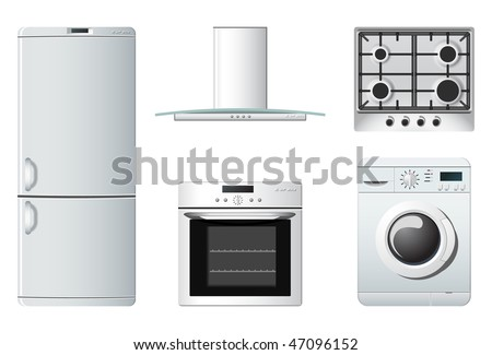 Household appliances | Kitchen - stock vector