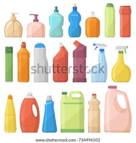 household chemicals bottles