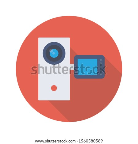 Household Devices flat icons for camera & device