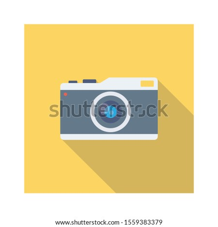 Household Devices flat icons for DSLR & device