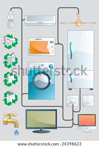 Household illustration - stock vector