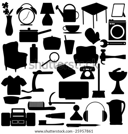 Household Silhouettes items