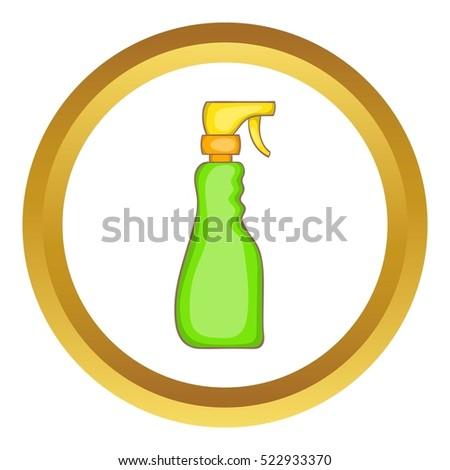 household spray bottle vector