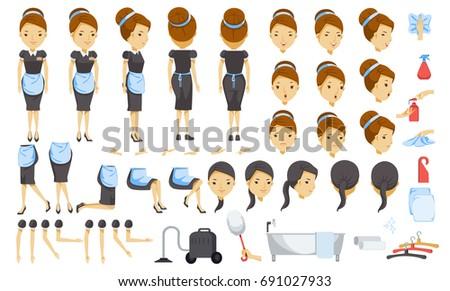 housekeeping cartoon creation