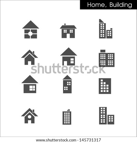 houses and building icon