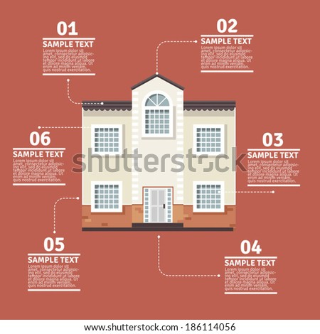 Houses info graphics - stock vector