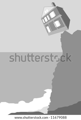 Housing Crash Vector