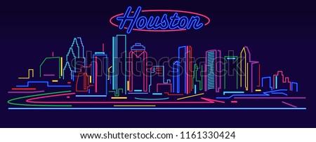 Houston Skyline by night