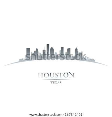Houston Texas city skyline silhouette Vector illustration