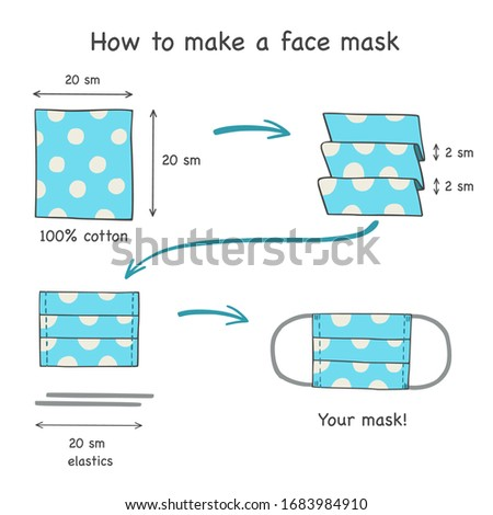 How to make a face mask. Vector illustration.  Photo stock ©